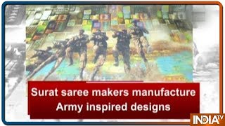 Surat saree makers manufacture Army inspired designs