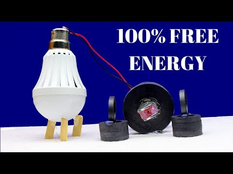 Homemade Free Energy light Bulbs Using Magnet -100% Work Free Energy Light Bulbs 220v using Magnet