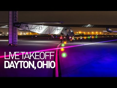 LEG 13 LIVE: Solar Impulse Airplane - Takeoff from Dayton