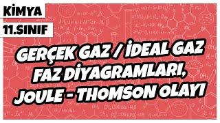 11. Sınıf Kimya - Gerçek Gaz / İdeal Gaz, Faz Diyagramları, Joule-Thomson Olayı  2022