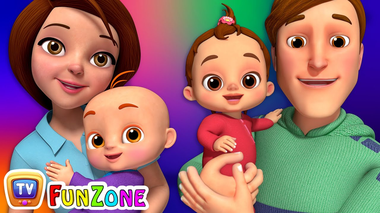 Download Baby, Mommy & Daddy Song  - ChuChu TV Funzone Nursery Rhymes & Songs for Kids