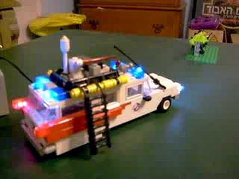 lego ghostbusters ecto 1 with working lights youtube. Black Bedroom Furniture Sets. Home Design Ideas