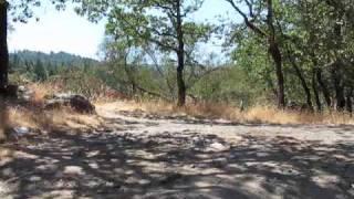 The start of Lowgap dirt road, Ukiah, California