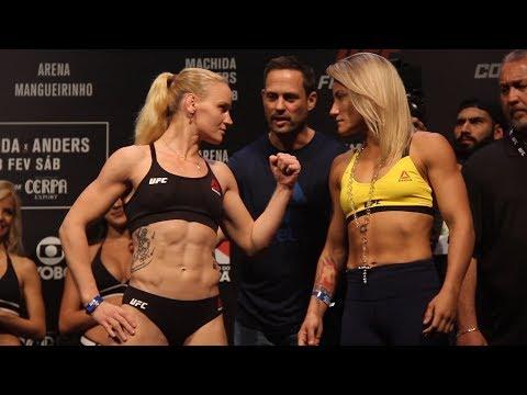 UFC Belem: Valentina Shevchenko vs. Priscila Cachoeira Weigh-In Staredown - MMA Fighting