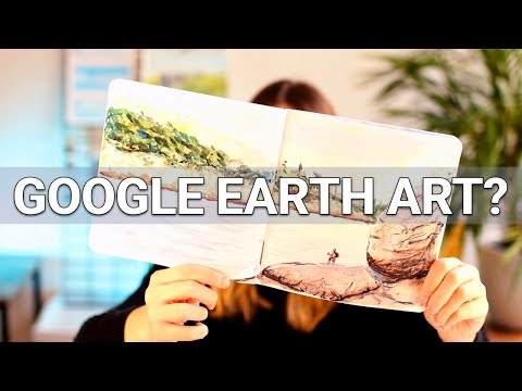 How to use Google Earth as an art reference + Croatia speed paint!