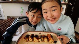 バナナの串カツを食べてみるRino&Yuuma