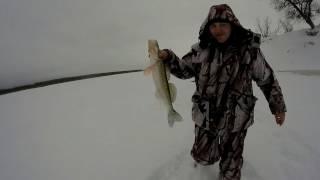 Зимняя рыбалка жерлицы, балансир. р.Иртыш.