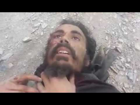 Afghan Army Soldiers Capture A Pakistani Terrorist During Fighting