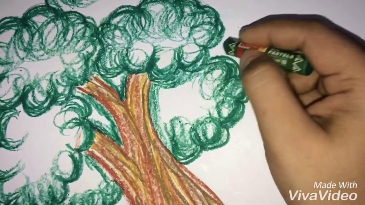 How To Draw Cartoon Tree Oil Pastel Colour Easy And Simple Tree Youtube At drawing how to you can learn how to easily draw a cartoon style christmas tree. how to draw cartoon tree oil pastel colour easy and simple tree