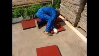 видео Укладка резиновой плитки