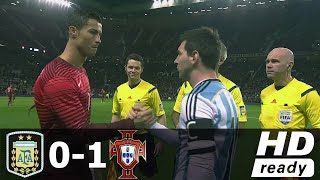 Argentina vs portugal 0-1 - goal & extended match highlights | full hd