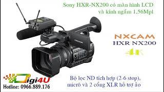 #Digi4U giới thiệu máy quay Sony HXR-NX200