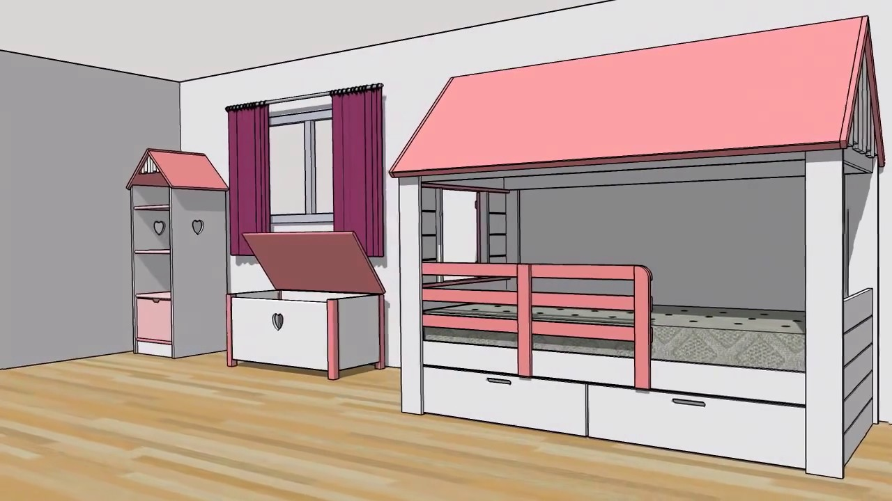 lit cabane maison abra ma youtube. Black Bedroom Furniture Sets. Home Design Ideas