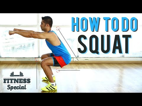 How To Do Perfect SQUAT | FITNESS SPECIAL | SQUATS For Beginners | WORKOUT VIDEO
