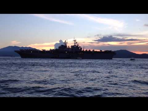 USS Makin Island anchored in Hong Kong