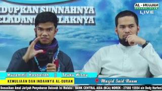 (LIVE)  (TALKSHOW)  Muzammil Hasballah - Teuku Wisnu  ||  Kemuliaan & indahnya Al-Quran