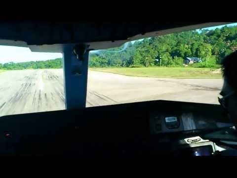 Dornier 328_100 short landing at TOREA  Fakfak Papua