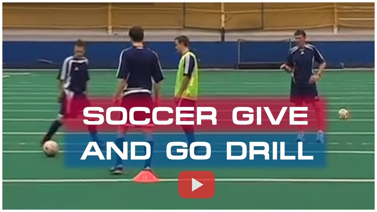 Winning Soccer Attacking Tactics The Give And Go Drill Coach Joe