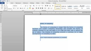 How to Indent Text in Word