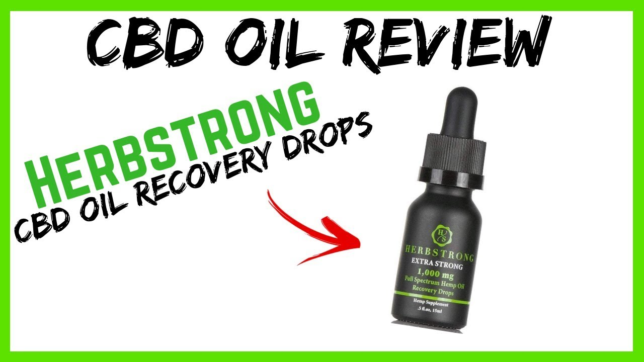 HERBSTRONG REVIEW // CBD Oil Recovery Drops