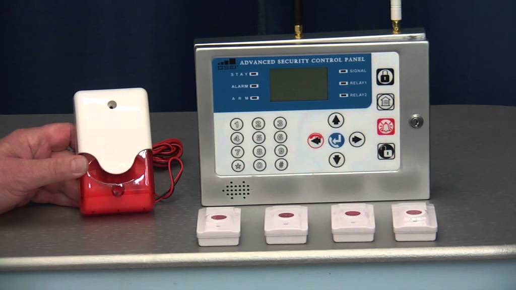 4-Panic Button Wireless GSM Panic Alarm - YouTube