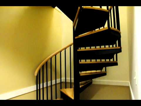 Stylish 5 Ft Steel Spiral Stair Youtube | 9 Ft Spiral Staircase | Lowes | Toronto V3 | Lowes Com | Wood Treads | Basement Stairs