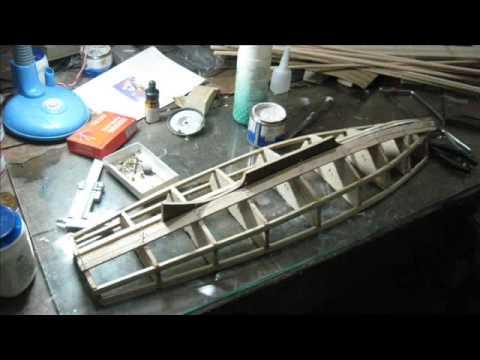 Model Sailboat building - YouTube