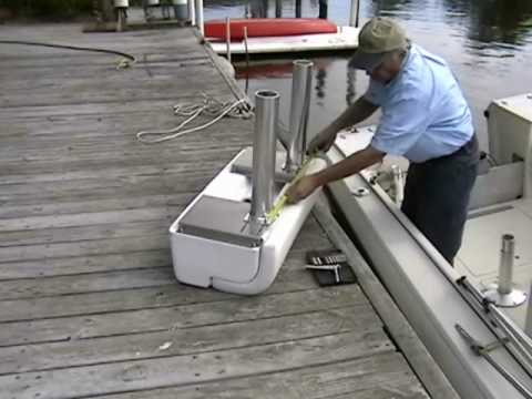 Todd Marine Leaning Post Replaces Old Boat Seats Youtube