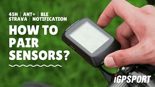 iGS520|How to pair sensors?