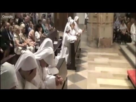 Ceremonia de entrada al noviciado de las Siervas del Hogar de la Madre - 16-7-17