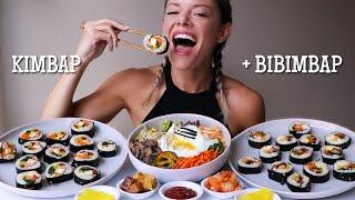 Kimbap + Bibimbap | Korean Food MUKBANG!