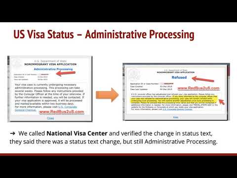US Visa Case Status CEAC Changed To Refused From Administrative Processing
