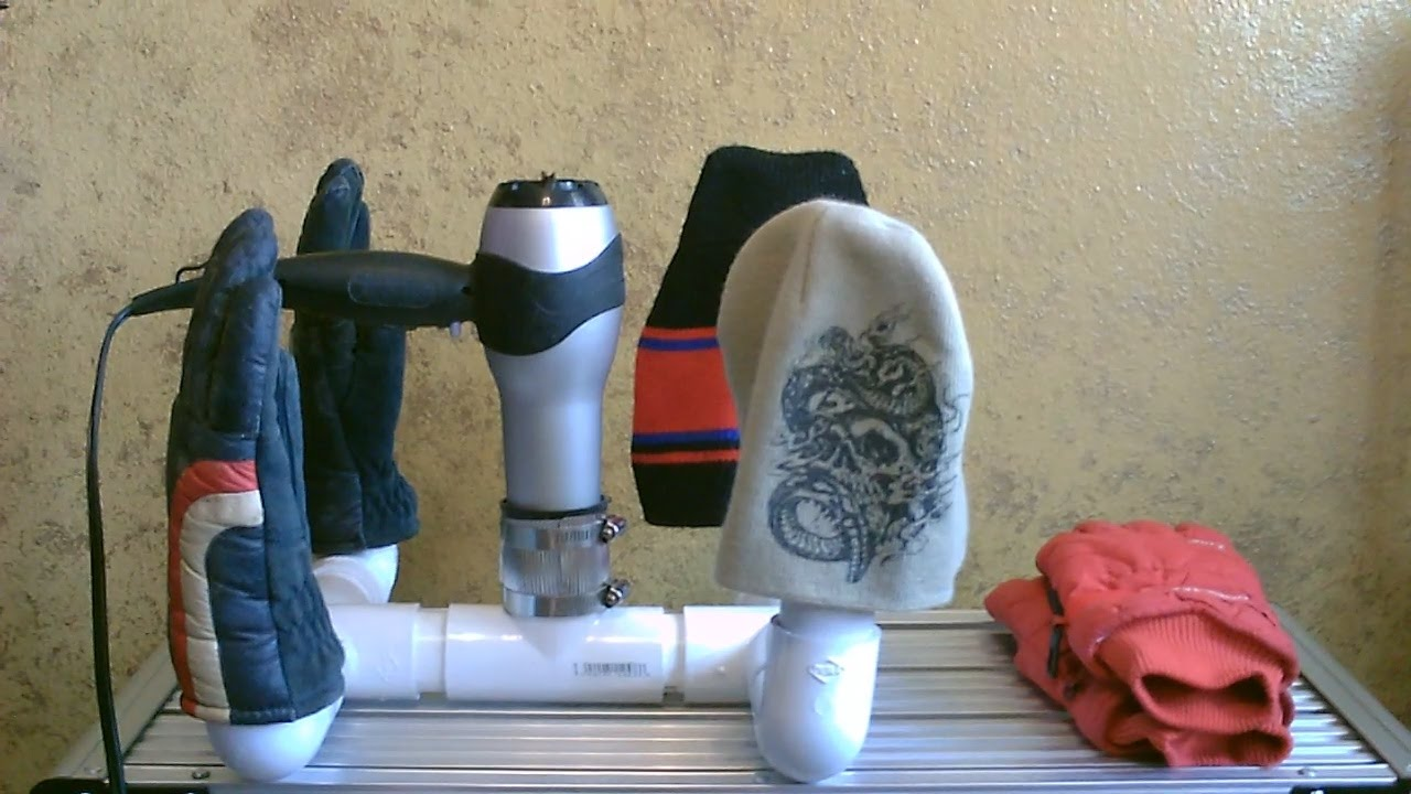 Multi-use mini dryer! - (for shoes,boots,hats,gloves) - dries 'em quickly - YouTube