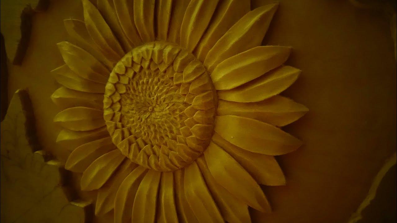 Цветы резьба по дереву фото