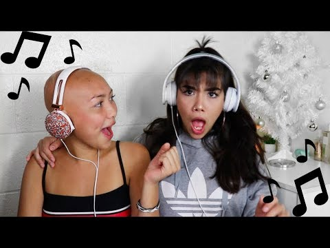 SINGING WITH NOISE CANCELLING HEAD PHONES CHALLENGE FT. MY SISTER