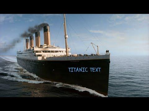 Titanic text