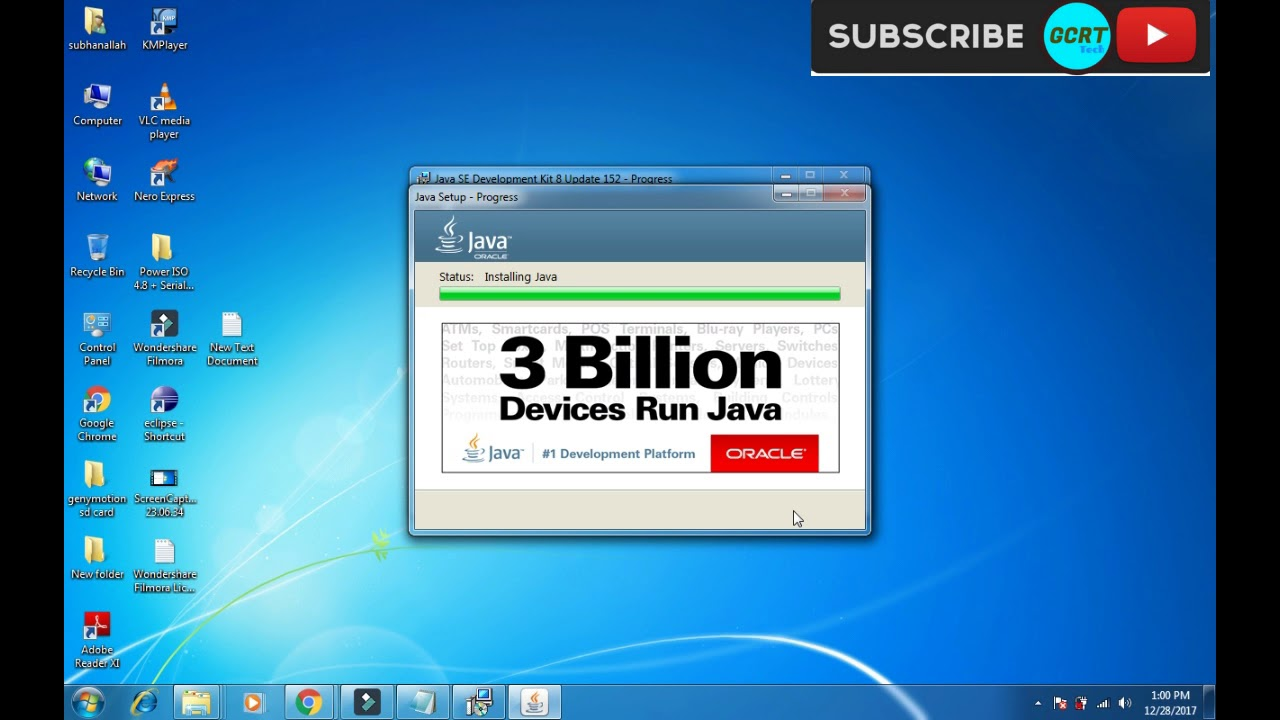 Download and Install Java JDK and JRE for windows 7/8/10 ...
