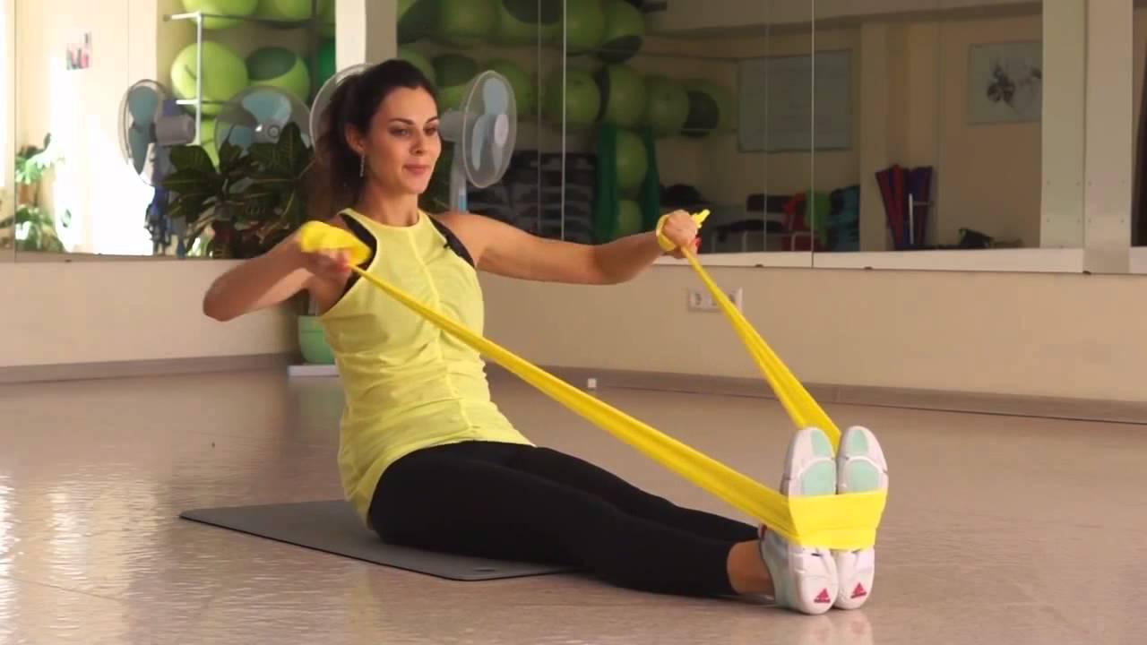Занятия с резиновой лентой видео