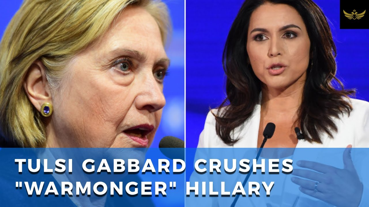 Tulsi Gabbard CRUSHES a Hillary Clinton, driven insane by phantom Russian trolls
