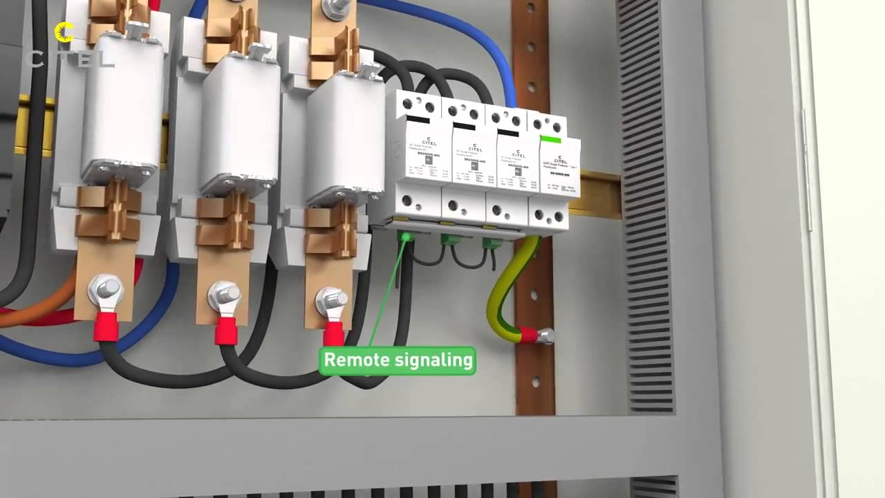 How To Install Surge Protection Device - YouTube | Tvss Wiring Diagram |  | YouTube
