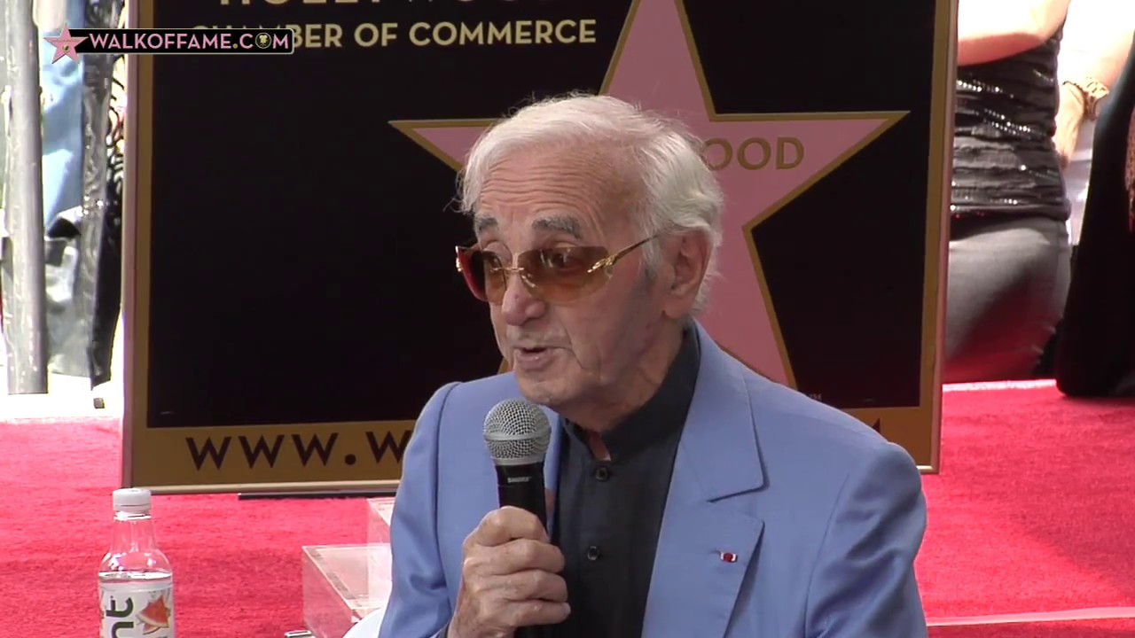 Charles Aznavour Honored With Hollywood Walk Of Fame Star