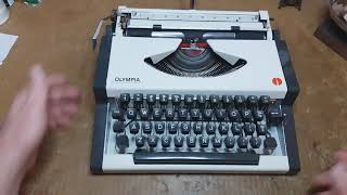 1977 Olympia SF DeLuxe ultraportable typewriter