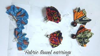 3 Ideas for Fabric Tassel Earrings