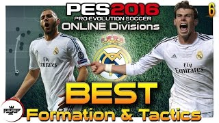 PES 2016 BEST  Game-plan FORMATION & TACTICS ( REAL MADRID Online Divisions)(Dedicated For The Fans Of PES, Like, Share & Subscribe. PES 2016 Online Divisions Previous ..., 2016-01-08T19:55:29.000Z)