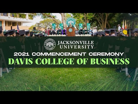 2021 Commencement Ceremony - Davis College of Business