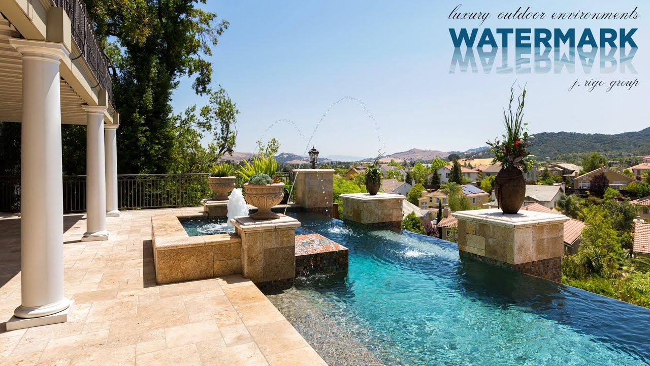 Architecture Spotlight #38 | Million Dollar Infinity Pool By Watermark  Environments | Saratoga CA   YouTube