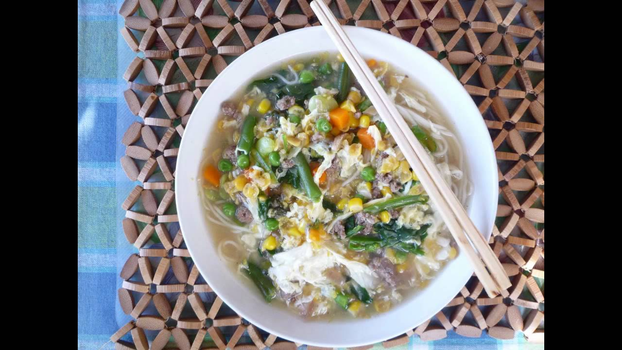 how to add egg to soup