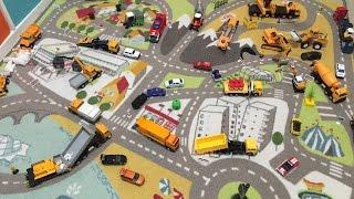Обзор игрушек, лучший набор машинок, игрушки для мальчиков, строительная техника, welly, majorette