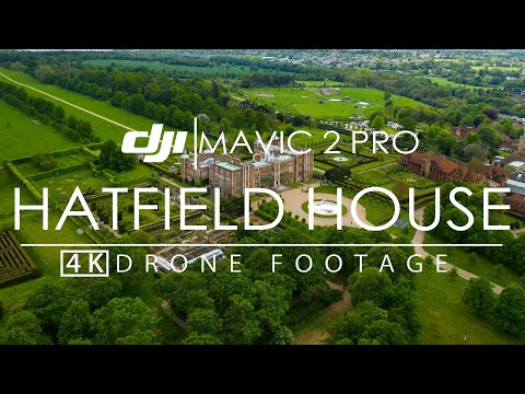 Hatfield House and Garden 4K 10bit DJI Mavic 2 Pro Cinematic Drone Footage