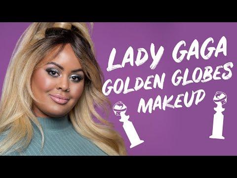 lady gaga golden globes makeup